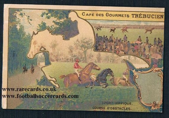 1910s horse racing national hunt trebusien French trade card